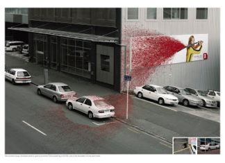Street marketing: kill bill